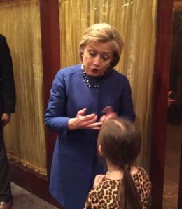 Hillary talking (1)